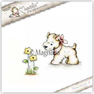 (S1716_CG17)- Little Westie with Flower